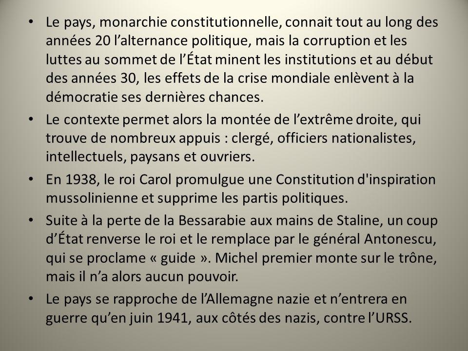 Le pays, monarchie constitutionnelle, connait tout au long des années 20 lalternance politique, mais la corruption et les luttes au sommet de lÉtat mi