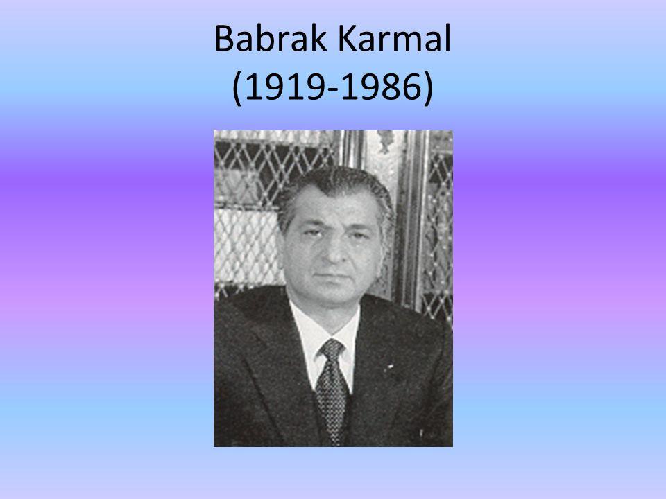 Babrak Karmal (1919-1986)