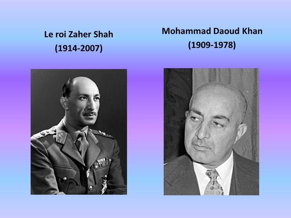 Le roi Zaher Shah (1914-2007) Mohammad Daoud Khan (1909-1978)