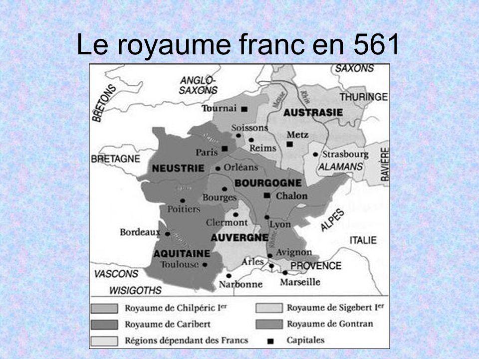 Le royaume franc en 561