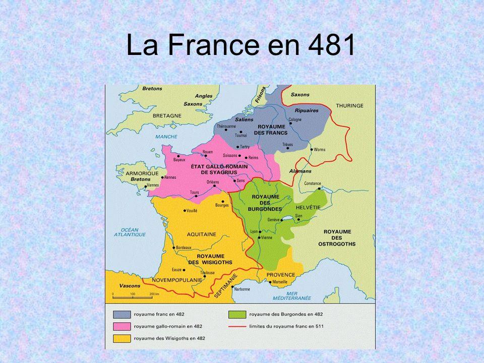 3 – Le christianisme en France de 496 à 986 3.1 – Sous les Mérovingiens À partir du V e siècle, une organisation territoriale de l Église se met en place, comblant une absence de structure politique définie.
