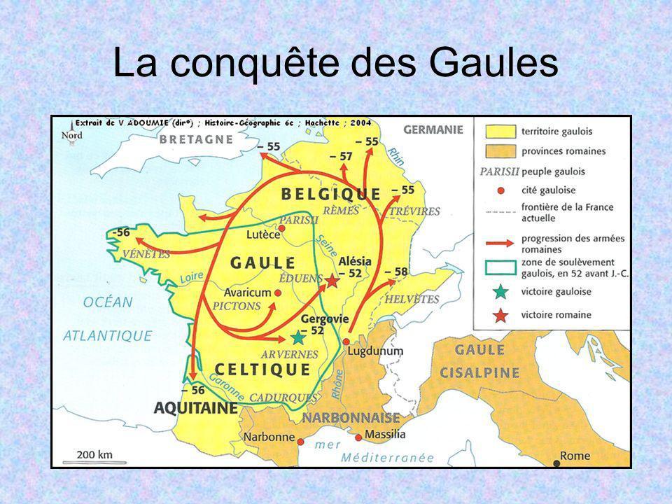 La conquête des Gaules