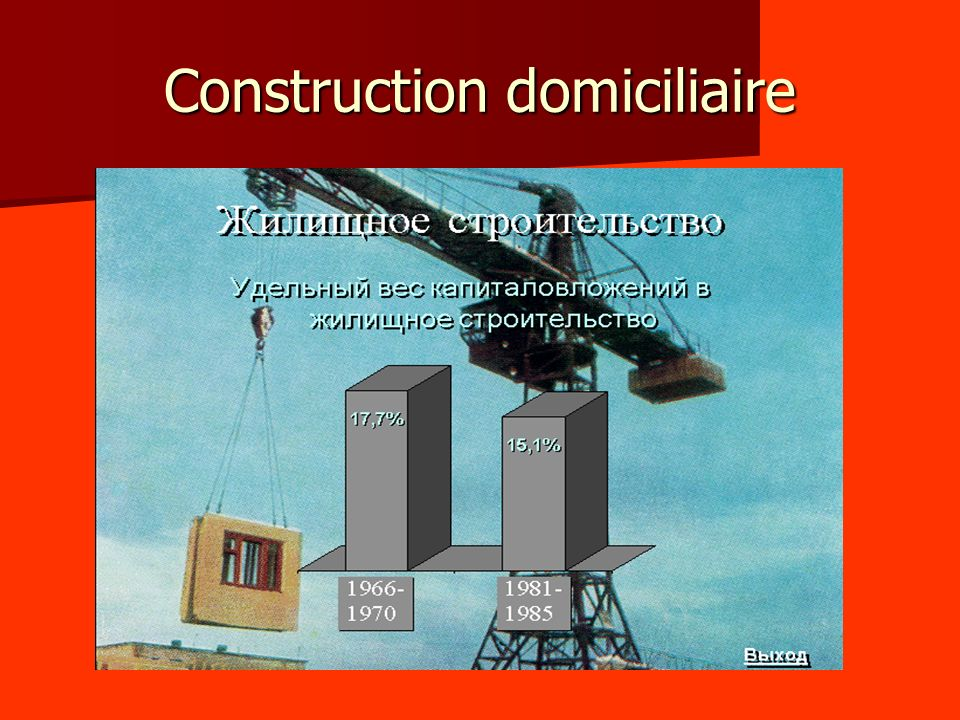 Construction domiciliaire
