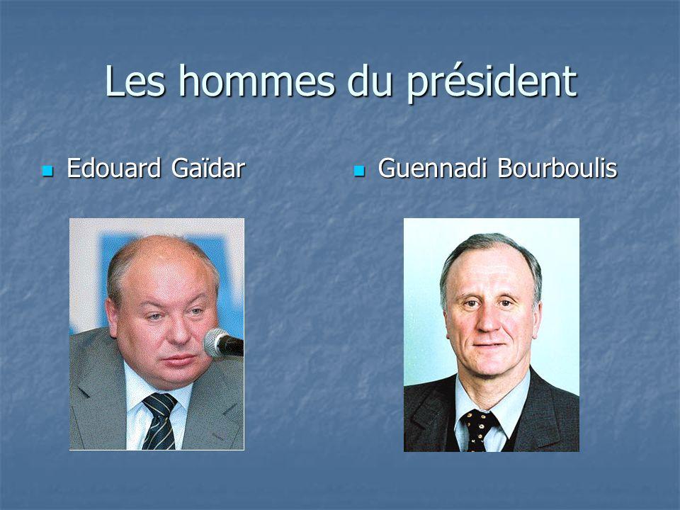 Les hommes du président Edouard Gaïdar Edouard Gaïdar Guennadi Bourboulis Guennadi Bourboulis