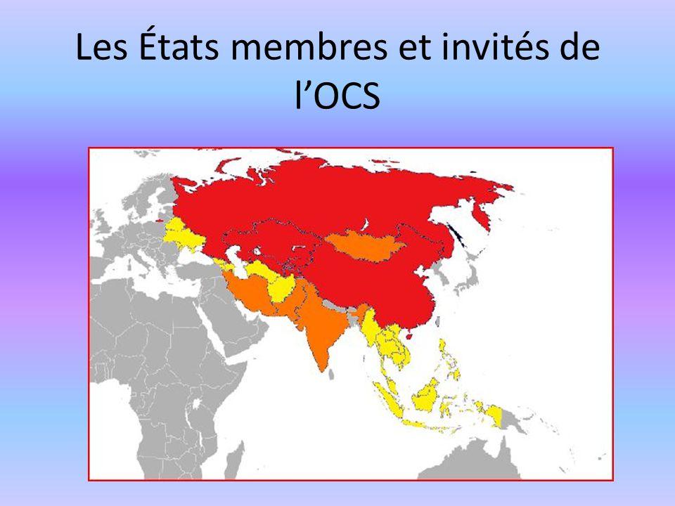 Les États membres et invités de lOCS