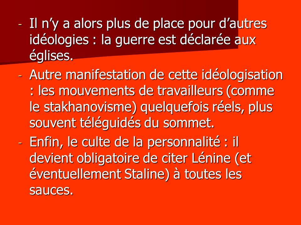5.3 – Lembrigadement - Autre élément fondamental du système stalinien : la mise en caserne de toute la société.