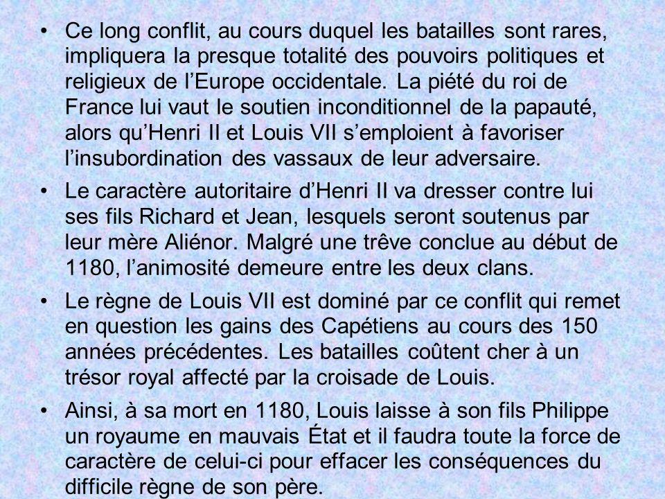 Ce long conflit, au cours duquel les batailles sont rares, impliquera la presque totalité des pouvoirs politiques et religieux de lEurope occidentale.