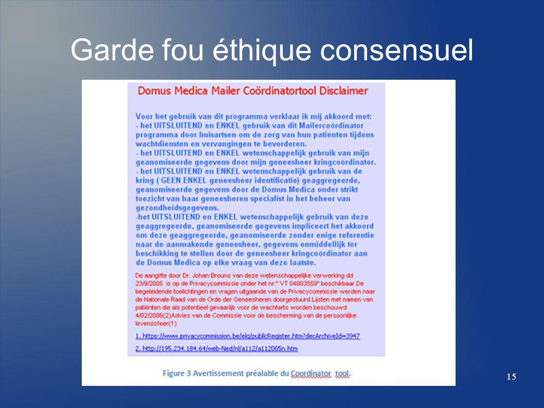 Garde fou éthique consensuel 15