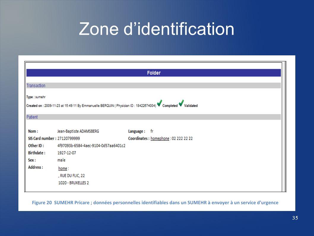 Zone didentification 35