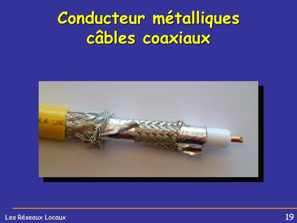 18 Les Réseaux Locaux Conducteur métalliques câbles coaxiaux