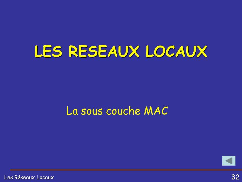 31 Les Réseaux Locaux Topologie Arbre (Bus)