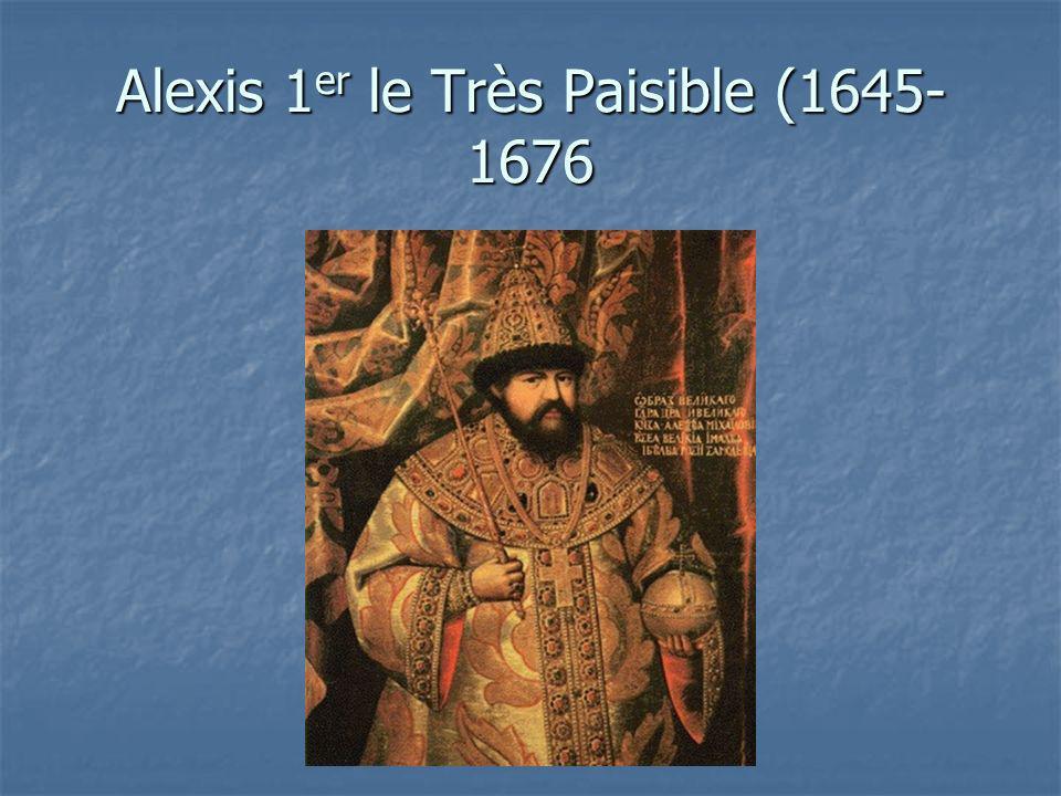 Alexis 1 er le Très Paisible (1645- 1676