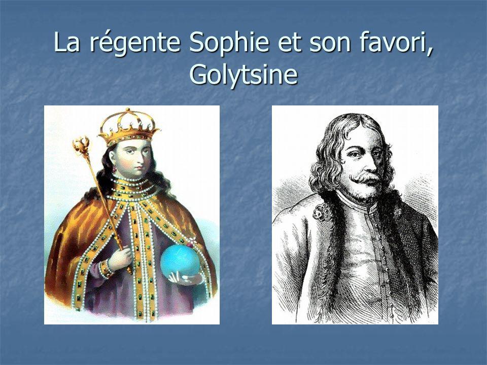 La régente Sophie et son favori, Golytsine