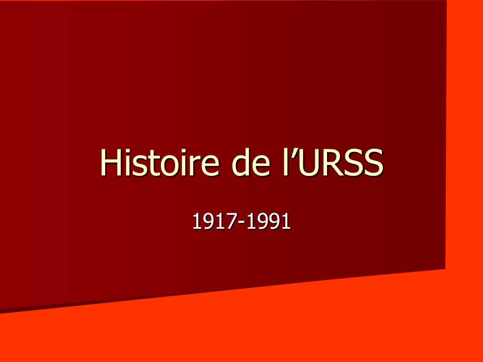 Histoire de lURSS 1917-1991