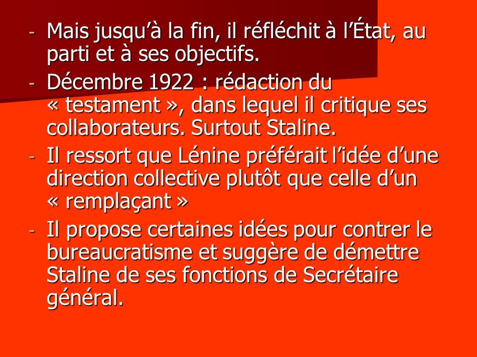 5.5 – La constitution stalinienne - Staline théorise son système dans sa constitution de 1936.