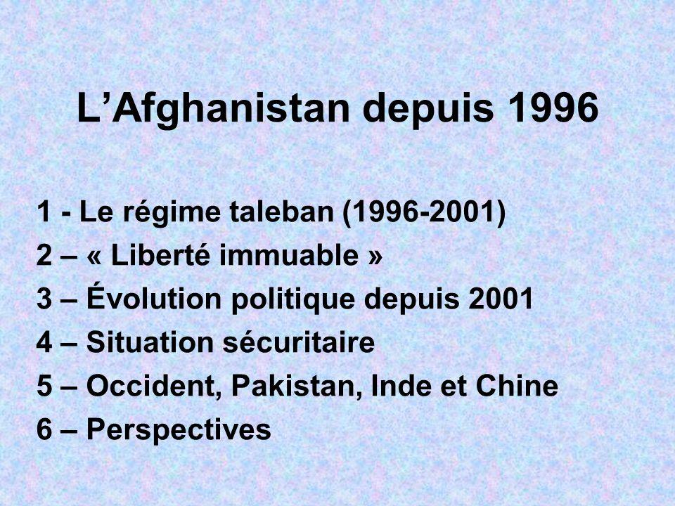 1 Le régime taleban (1996- 2001) 1.1 – Origines et doctrine Qui sont les talebans.