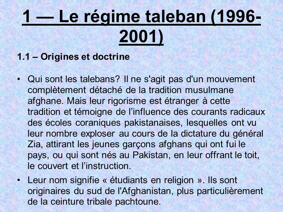 Commence alors un jeu complexe avec les talebans.