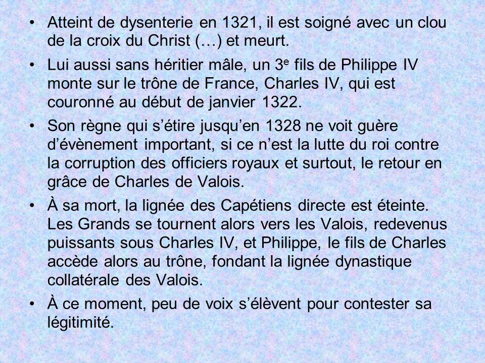 4.2 – La reconquête de Charles le sage (1360-1380) Suite à Poitiers, la situation en France est très difficile.