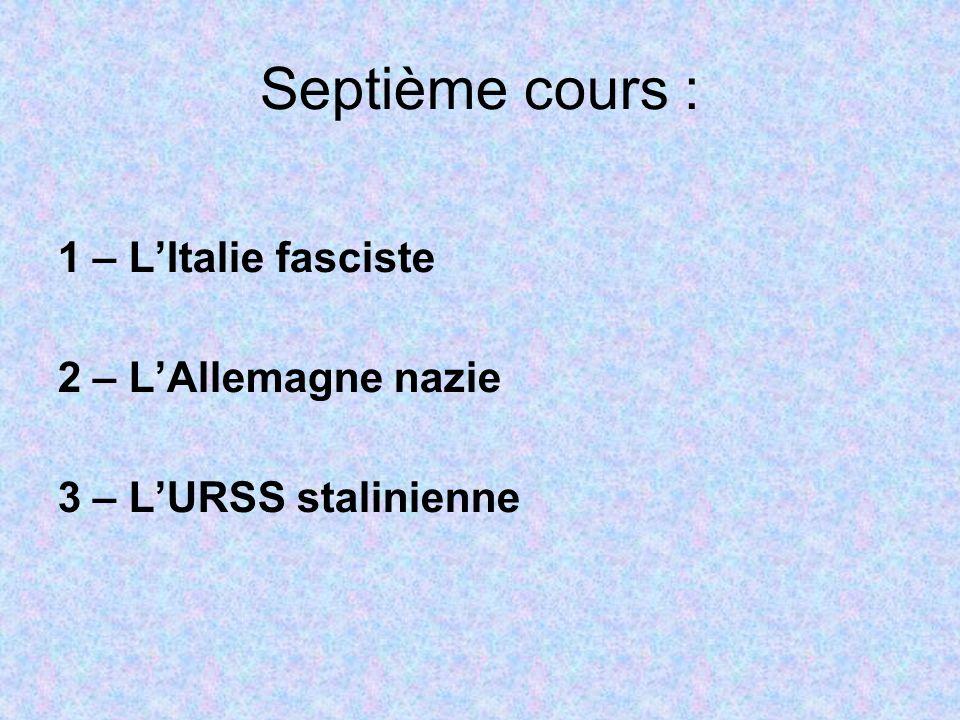 1 – LItalie fasciste 1.1 – Les lois fascistissimes Entre 1922 et 1925, Mussolini ne règne que partiellement sur lItalie : le parlement continue de siéger et même si le PNF y devient majoritaire en 1924, il doit partager lappareil législatif avec dautres partis.