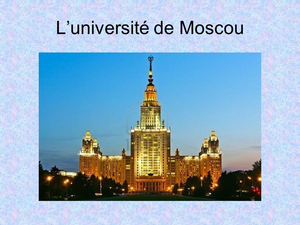 Luniversité de Moscou