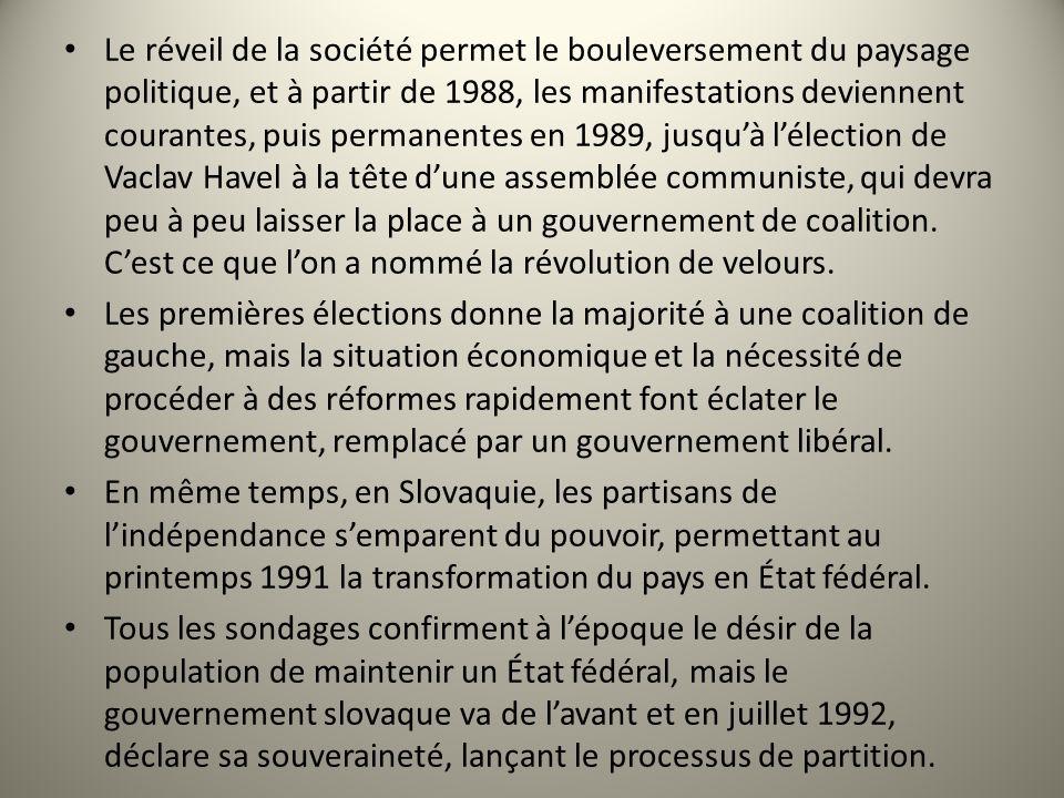 Le réveil de la société permet le bouleversement du paysage politique, et à partir de 1988, les manifestations deviennent courantes, puis permanentes