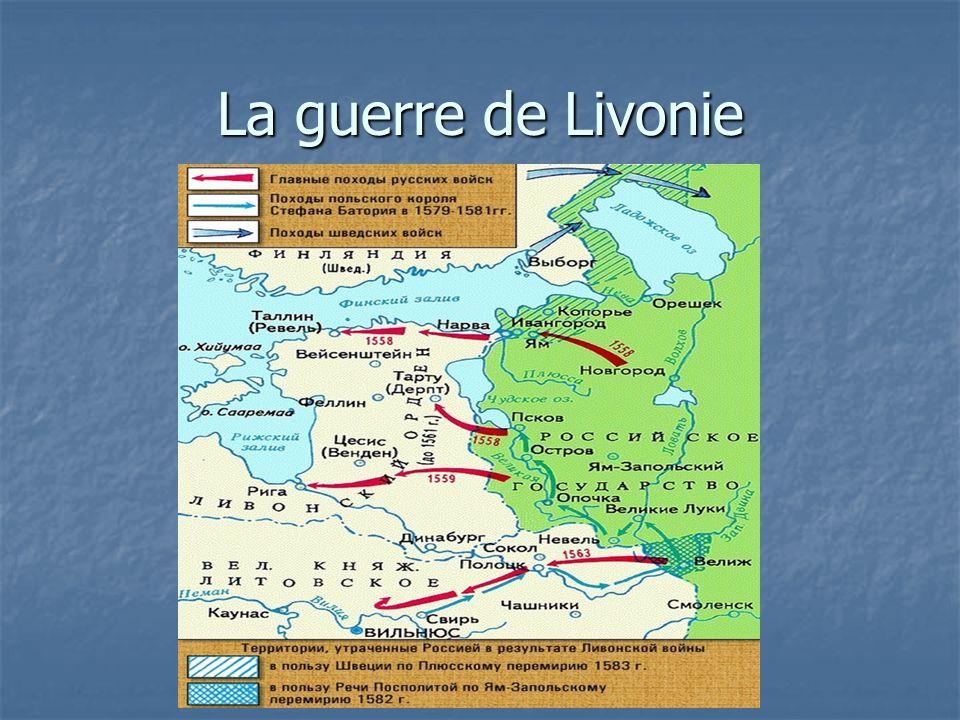 La guerre de Livonie
