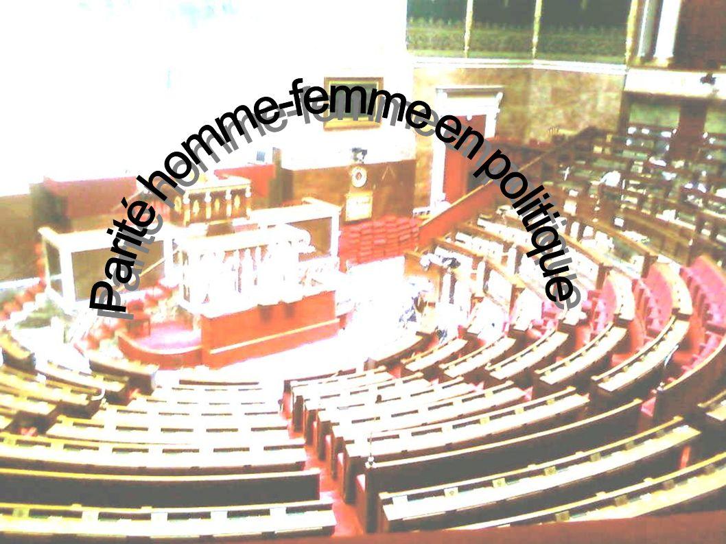 [La loi pour la parité des hommes et des femmes dans les instances de représentations politiques est une des étapes de la lutte pour lémancipation des femmes.] [ La lutte a débuté dès la révolution française.