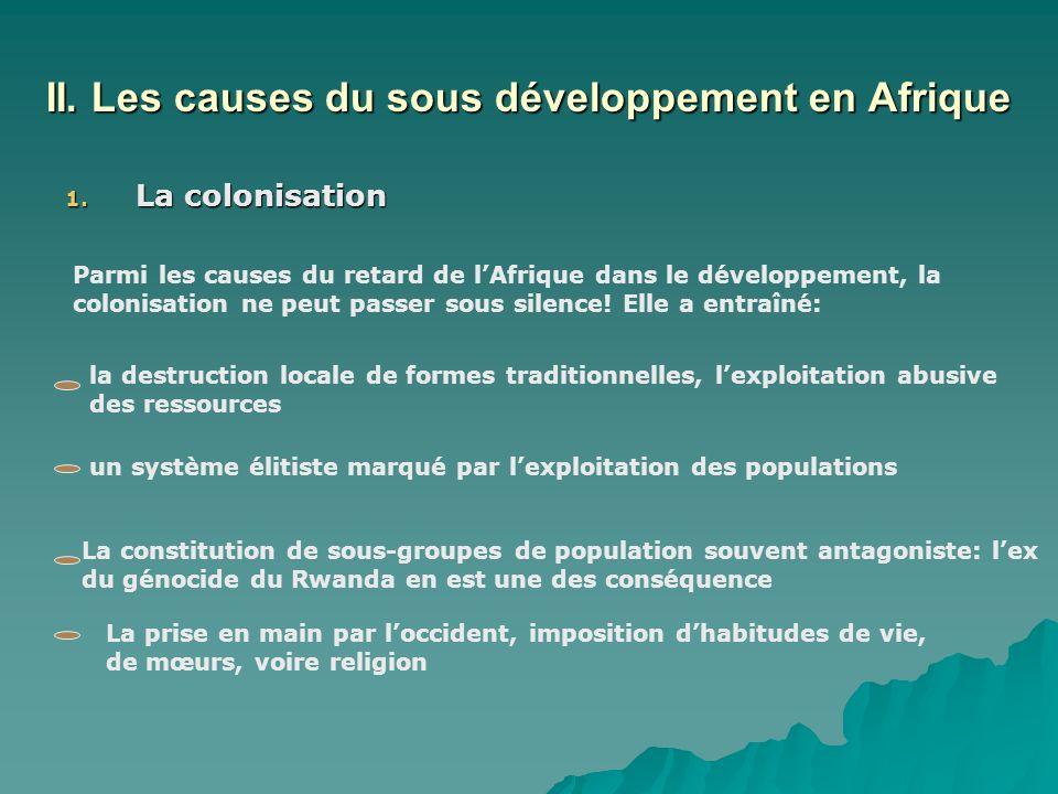 II. Les causes du sous développement en Afrique 1.