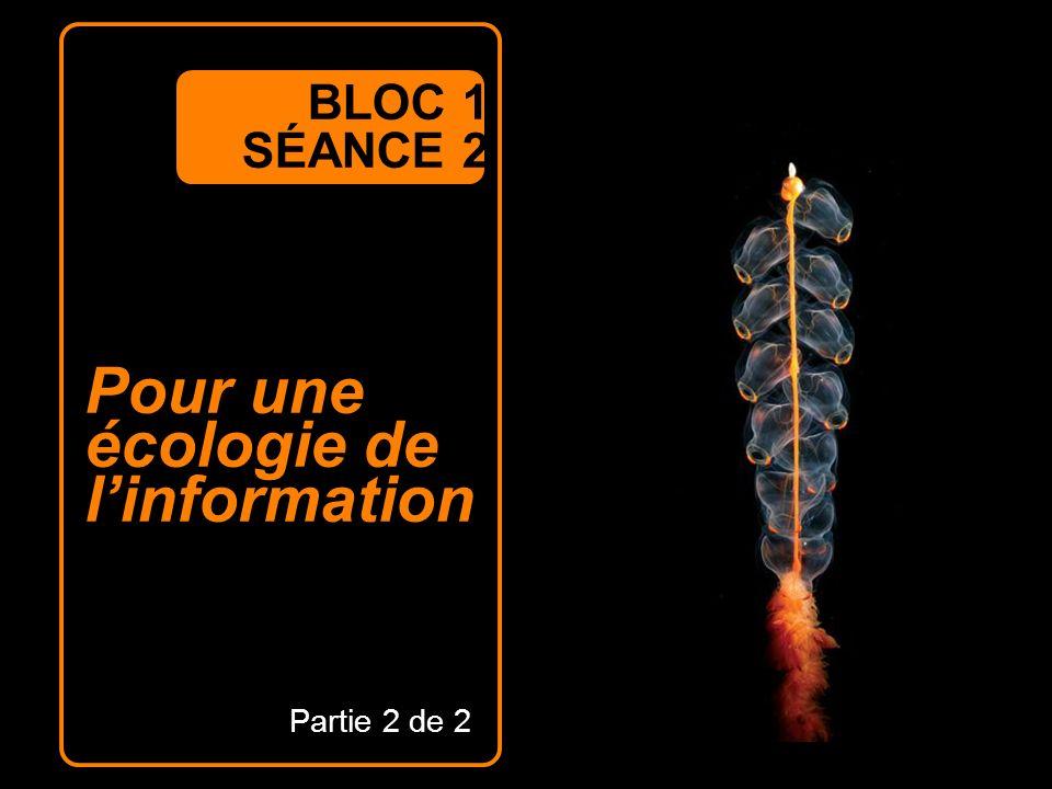 Pour une écologie de linformation BLOC 1 SÉANCE 2 Partie 2 de 2