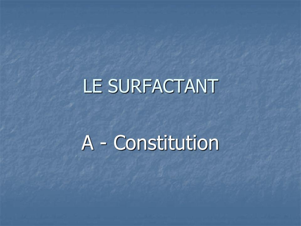 LE SURFACTANT A - Constitution