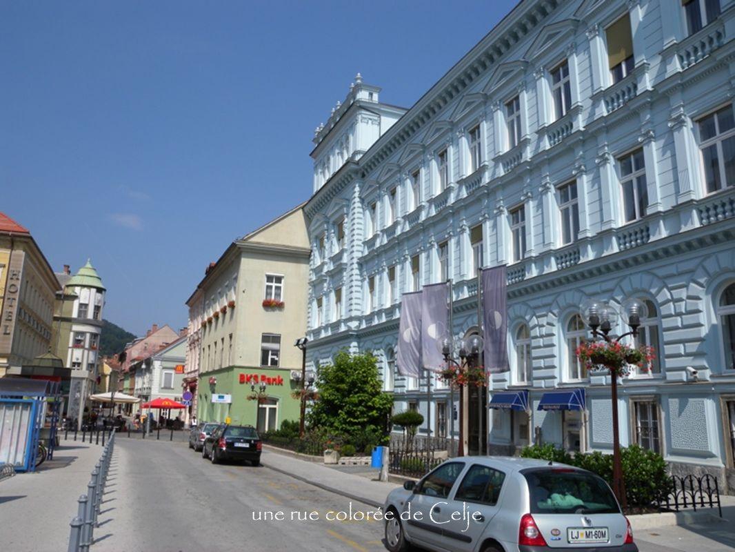 une rue colorée de Celje