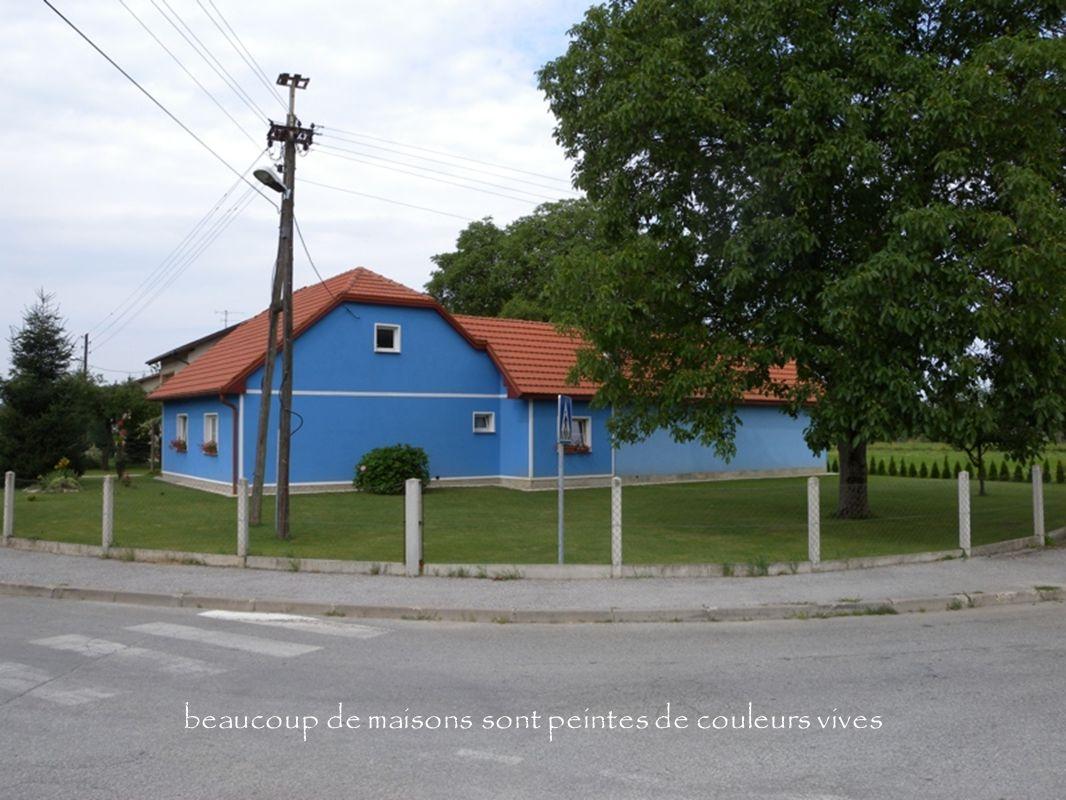 beaucoup de maisons sont peintes de couleurs vives