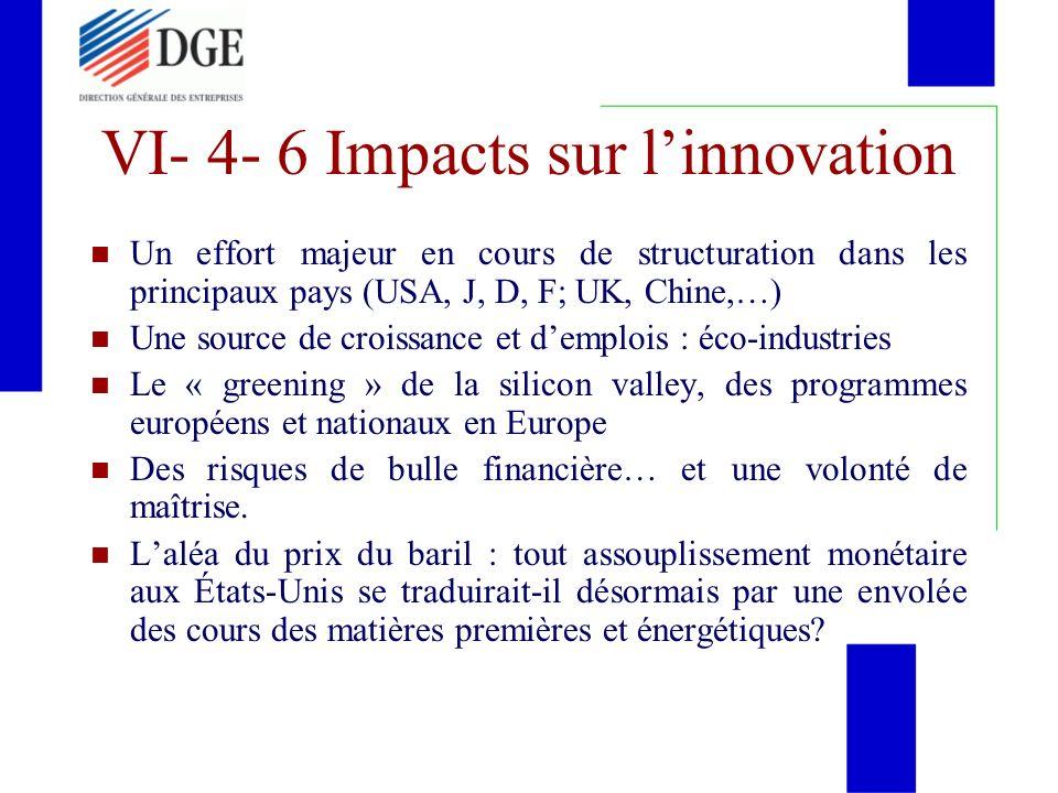 Un effort majeur en cours de structuration dans les principaux pays (USA, J, D, F; UK, Chine,…) Une source de croissance et demplois : éco-industries