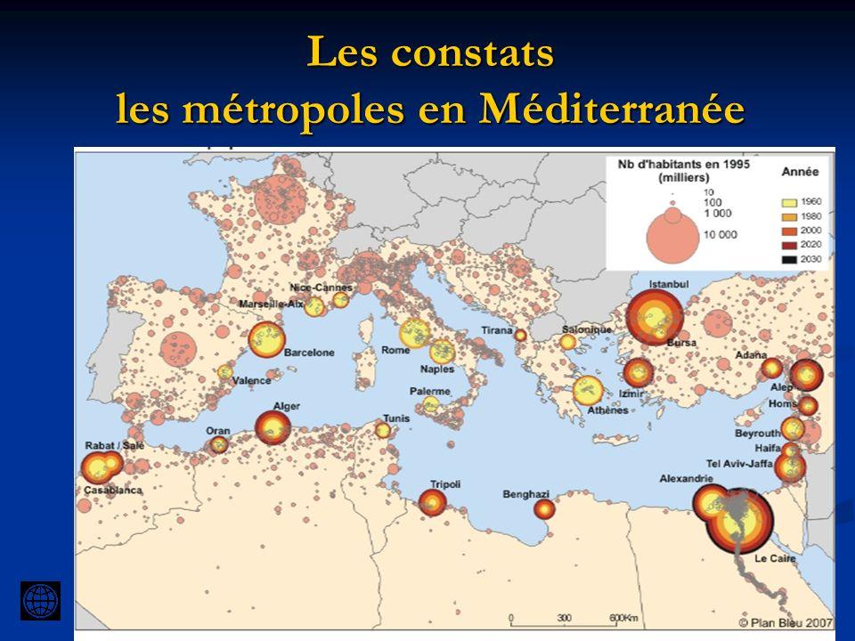 Les constats les métropoles en Méditerranée