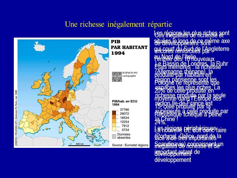 Mais lUnion Européenne nest pas un territoire homogène La population Avec 454 millions dhabitants, lUE à 25 constitue le 3e ensemble de population au