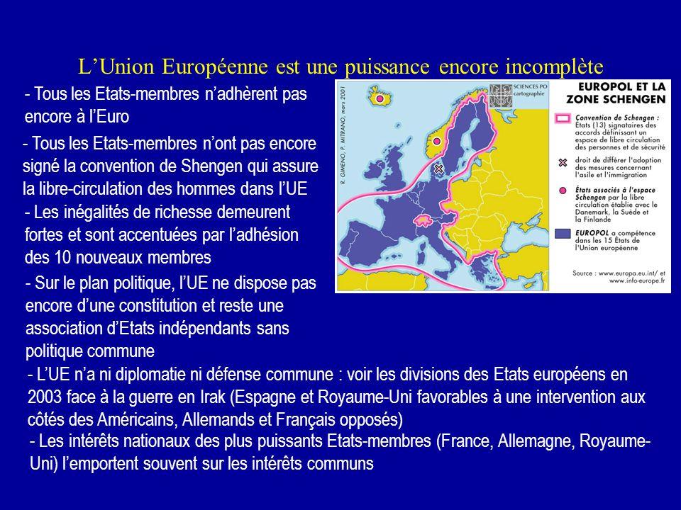LUnion Européenne, un espace solidaire Pour tenter de réduire ces déséquilibres de lespace européen et ces inégalités entre régions, lUE a mis en plac