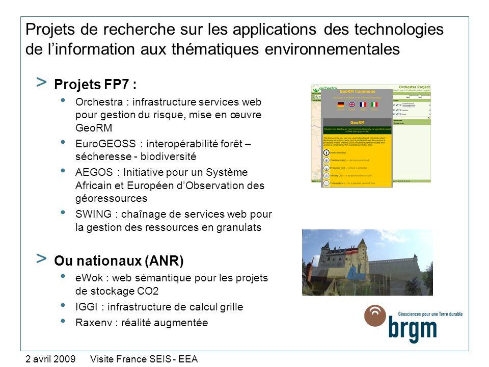 Projets de recherche sur les applications des technologies de linformation aux thématiques environnementales > Projets FP7 : Orchestra : infrastructur