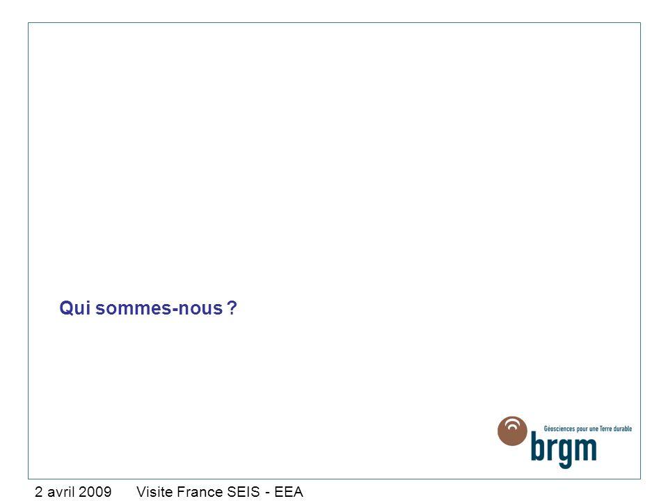 Qui sommes-nous ? 2 avril 2009 Visite France SEIS - EEA