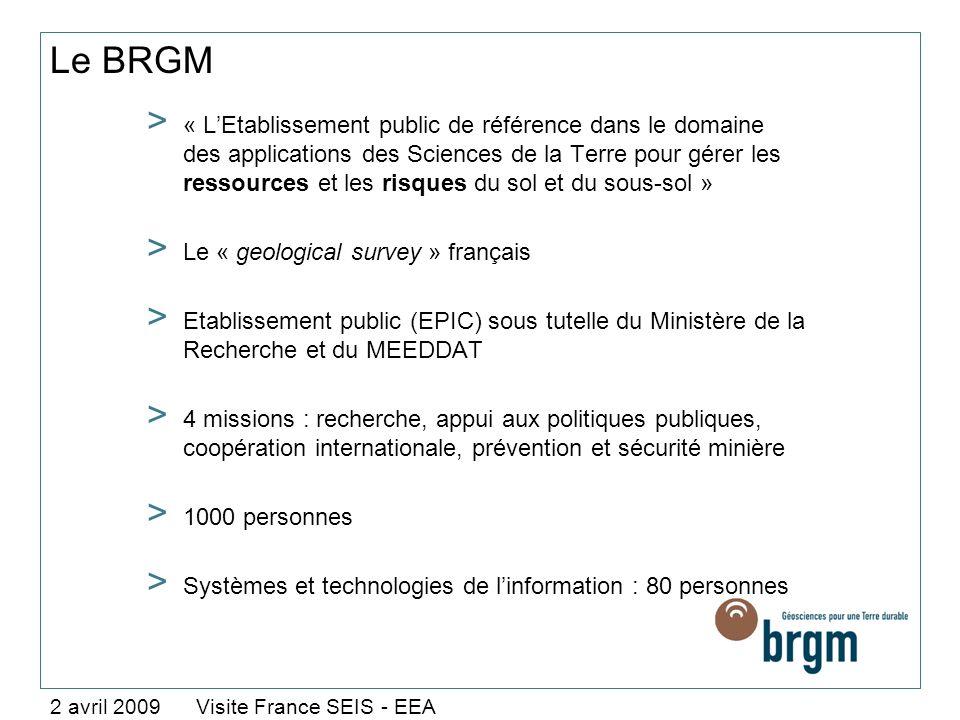 Le BRGM > « LEtablissement public de référence dans le domaine des applications des Sciences de la Terre pour gérer les ressources et les risques du s