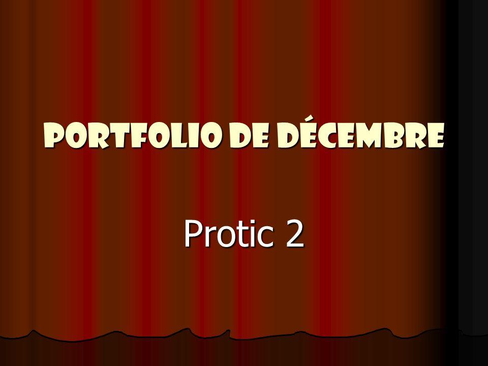 Portfolio de décembre Protic 2