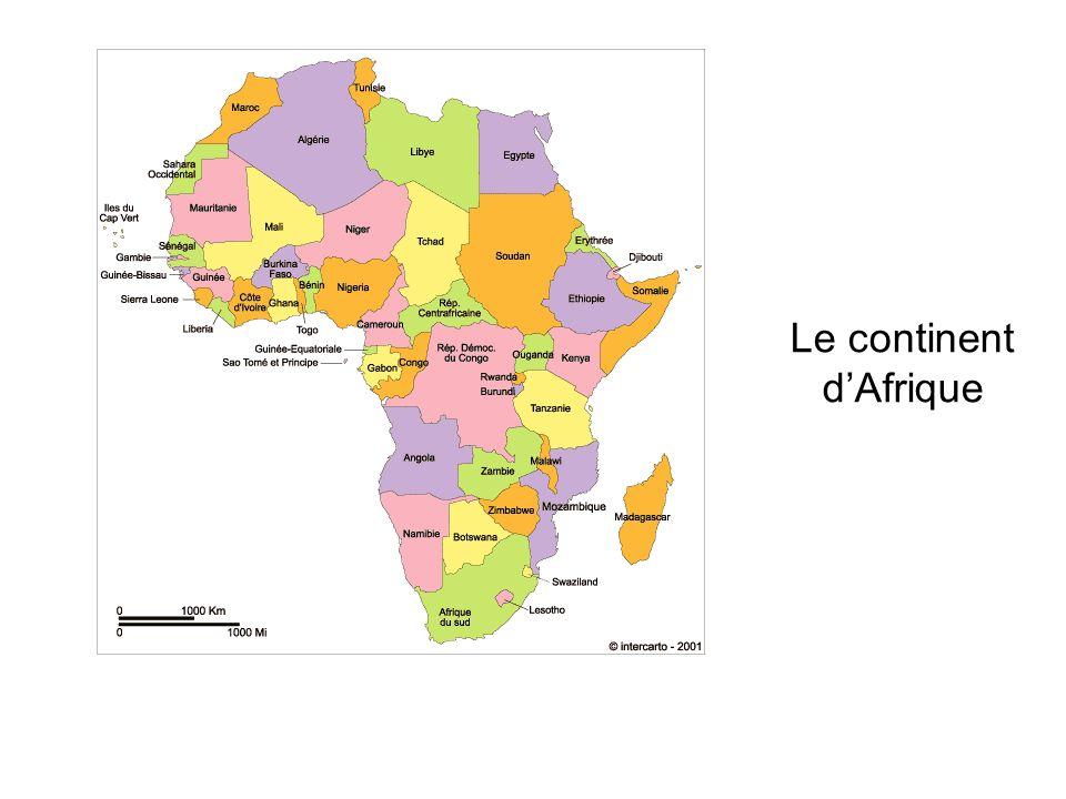 Le continent dAfrique