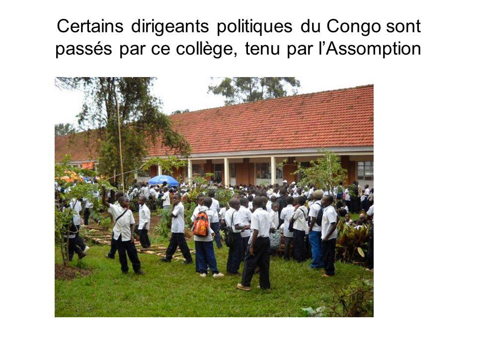 Certains dirigeants politiques du Congo sont passés par ce collège, tenu par lAssomption