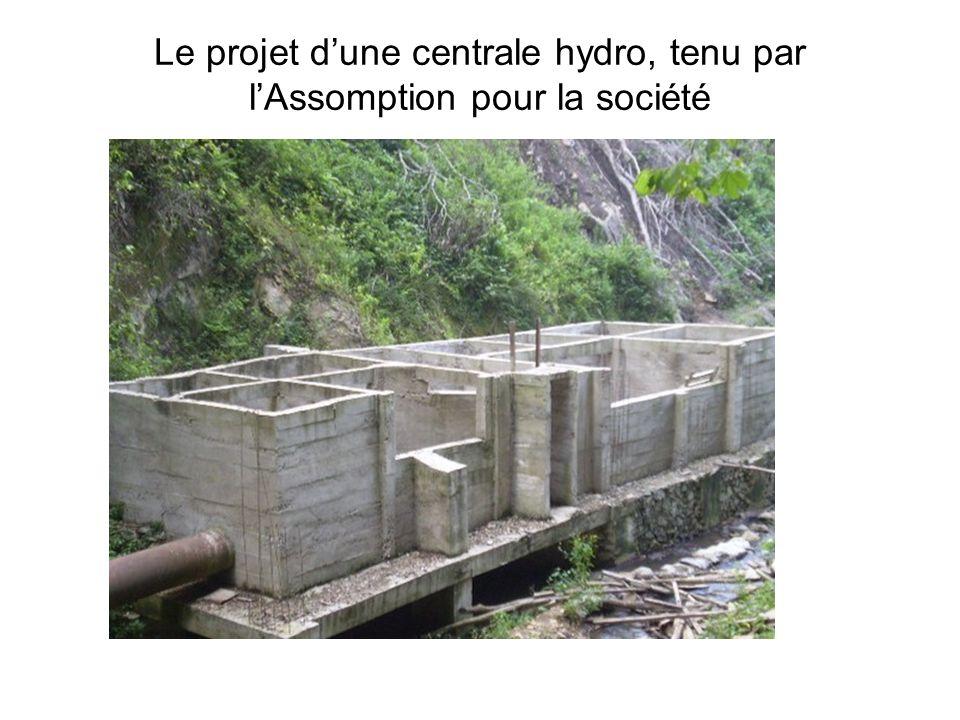 Le projet dune centrale hydro, tenu par lAssomption pour la société
