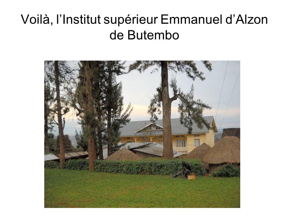 Voilà, lInstitut supérieur Emmanuel dAlzon de Butembo