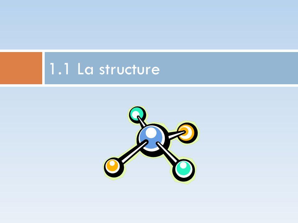 1.1 La structure