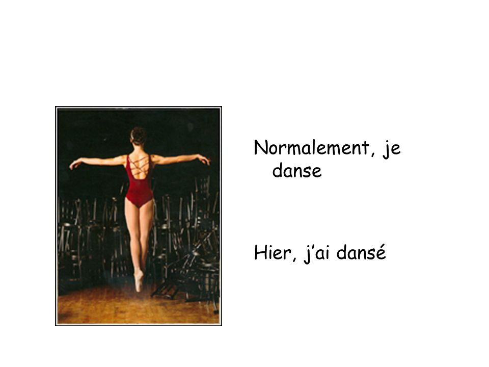 Normalement, je danse Hier, jai dansé