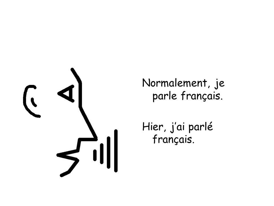Normalement, je parle français. Hier, jai parlé français.