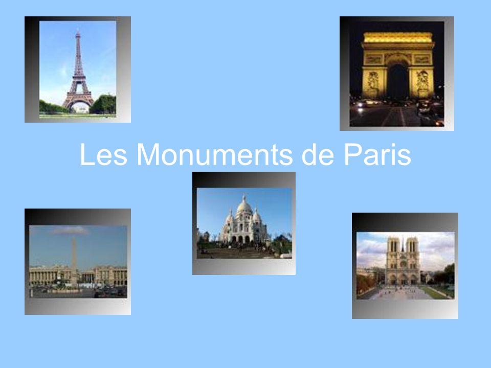 La Tour Eiffel Elle a été construite par Gustave Eiffel pour lExposition Universelle de 1889 Au début, les Français naimaient pas la tour, mais cétait la visite la plus populaire de lExposition Aujourdhui la Tour Eiffel est le monument le plus célèbre dEurope