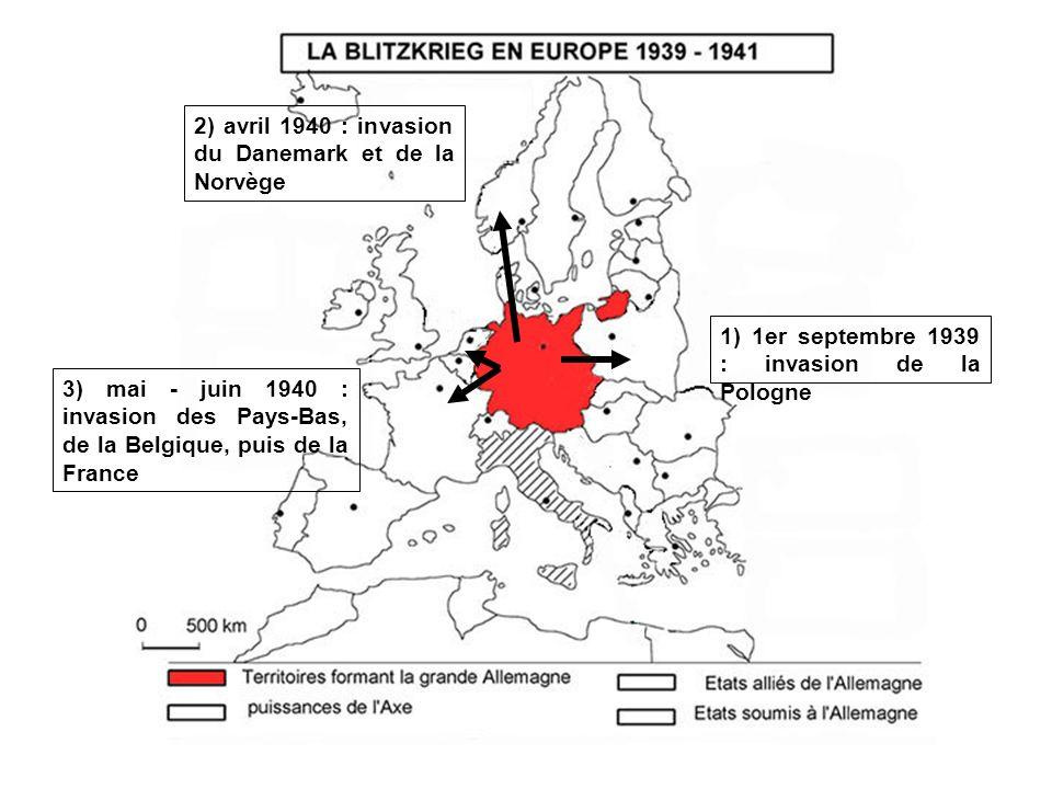 Hitler doit renoncer à linvasion du Royaume- Uni, et décide de lasphyxier par le blocus et la guerre sous-marine : cest la bataille de lAtlantique.