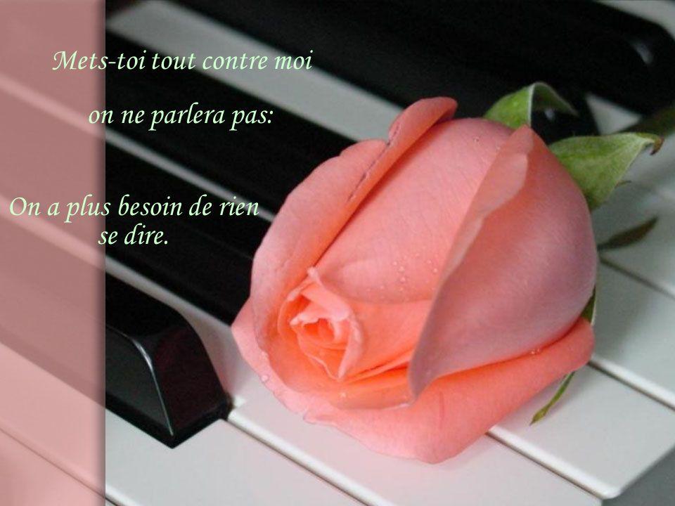Quand il fait rose comme ce soir Et une poussière rose monte partout dans le ciel.